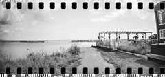 2017-08 - 097SR_10 (sarajoelsson) Tags: sprocketrocket blackandwhite bw panorama panoramic sprocketholes digitizedwithdslr toycamera ilford 135 35mm hp5 monochrome plasticlens filmphotography filmisnotdead believeinfilm filmshooter film wideangle lomography lomo xtol teamframkallning bnw svartvitt blackwhite sweden 2017 summer summertime august vacation skåne österlen sverige