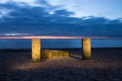 Sunset at Snettisham Beach, Norfolk (Chris Melladay) Tags: beach canon clouds eos750d landscape longexposure lowlight norfolk paintingwithlight sand sea snettisham sunset water allfreepicturesapril2018challenge
