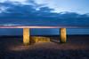 Sunset at Snettisham Beach, Norfolk (Chris Melladay) Tags: beach canon clouds eos750d landscape longexposure lowlight norfolk paintingwithlight sand sea snettisham sunset water