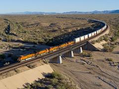 BNSF 7825 West at Haviland, AZ (thechief500) Tags: bnsf railroads seligmansubdivision aerialrailroadphoto haviland az usa us arizona