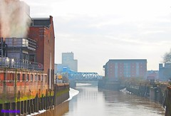 Industry next to the River Hull (ajb83hull) Tags: industry city river hull yorkshire building bridge england working architecture