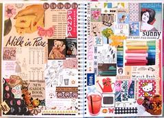 Smash Pages Leftovers (collageDP) Tags: smashbook artjournal collage cutandpaste magazinepaper scrapbookpaper vintagepaper text