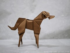 43/365 Evie 2.4 by Jason Ku (origami_artist_diego) Tags: origami origamichallenge dog jasonku 365days 365origamichallenge