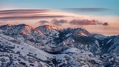 Wasatch Range Sunset (moerden68) Tags: utah wasatchrange saltlakecity snow sky clouds sunset landscape sonyilce7m2 sonya7ii nikon nikkor180mmf28ed manualfocus legacylens winter mountain ngc greatphotographers
