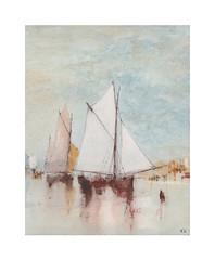 Scène côtière (Yvan LEMEUR) Tags: aquarelle watercolour acuarela voilier scènecôtière peinture