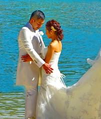 Romantic moment (peggyhr) Tags: peggyhr bride groom water sunlight candid dsc06474c hawaii newlywed thegalaxy thegalaxystars heartawards level1peaceawards thegalaxylevel2 thegalaxyhalloffame niceasitgets~level1