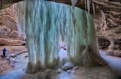 Frozen Fall (kendoman26) Tags: hdr nikhdrefexpro2 niksoftware nikon nikond7100 tokinaatx1228prodx tokina tokina1228 travelillinois enjoyillinois starvedrock starvedrockstatepark waterfall frozenfall