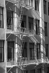 Monochrome Fire Escape (JB by the Sea) Tags: sanfrancisco california october2017 financialdistrict sanfranciscomuseumofmodernart sfmoma blackandwhite bw urban