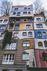 Hundertwasserhaus. (DanAie) Tags: hundertwasserhaus wien artistic art architecture artist austria pentax photography photographer abstarct color composition colour colors composizione contrast city streetphotography street österreich osterrich