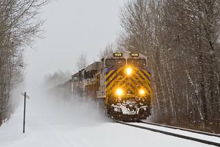 Citirail 1426 Leads empty COB train East at MP 71