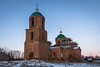 Restored Church. (Oleg.A) Tags: lifegivingtrinitychurch landscape winter church old building outdoor rural evening villiage snow cathedral countryside mikhaylovka abandoned dome ruined orange twilight orthodox sunset architecture cross penzaregion russia nature destroyed catedral landscapes outdoors penzenskayaoblast ru