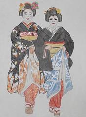 Maiko & Geiko (GionGeiko (Fujiko)) Tags: maiko geiko geisha hikizuri