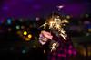 sparklers-1 (lermaniac) Tags: yellow children child bo girl bubblegum baloon sparklers night outdoors bnw blackandwhite
