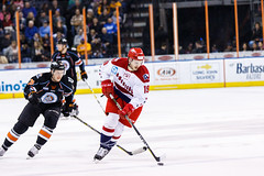 "Kansas City Mavericks vs. Allen Americans, February 24, 2018, Silverstein Eye Centers Arena, Independence, Missouri.  Photo: © John Howe / Howe Creative Photography, all rights reserved 2018 • <a style=""font-size:0.8em;"" href=""http://www.flickr.com/photos/134016632@N02/39790819154/"" target=""_blank"">View on Flickr</a>"