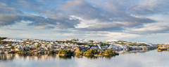 """Winterland panorama"" (Terje Helberg Photography) Tags: panorama boat cloud clouds cloudscape coast coastal house houses landscape landskap nature outdoor outside scenery sea seascape sky skyscape snow trees view water winter"