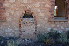 Seen from outside, remains of chimney stack of Mecunda Hall where school was conducted, Waikerie Line, South Australia (contemplari1940) Tags: mercunda hall school waikerie railway line hdofbakara mattala galga chimney stack ruin