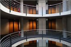 round (Bernergieu) Tags: switzerland architecture indoor round kreise rund geländer raling atrium stairwell