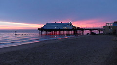 Cleethorpes pier (Beer today, red wine tomorrow.....) Tags: cleethorpes pier red sky beach lincolnshire england