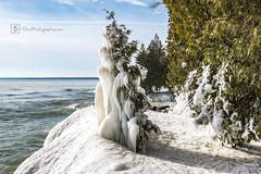 Winter in Door County, WI (DinsPhoto) Tags: doorcountywi wisconsinwinter lakemichigan icestorm ice winterwonderland