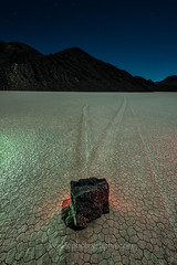 Slip Sliding Away (Ken Lee Photography) Tags: sky astrophotography nature desert night stones slippingstones racetrackplaya deathvalley longexposure lightpainting kenlee kenleephotography slowshutter pinturadeluz largaexposicion protomachines feisol nikon