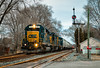 The Troy Standard (Wheelnrail) Tags: csx standard cab sd402 locomotive ohio troy bo cpl signal signals train trains emd rails toledo subdivision classic winter bracket baby small town