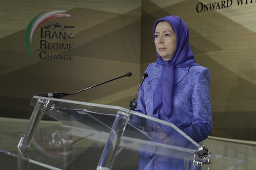 "Maryam Rajavi addresses conference entitled, ""Regime Change in Iran, Onward with 1000 Ashrafs"""