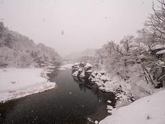 P1011360 (Rambalac) Tags: asia japan lumixgh5 forest river snow water азия япония вода лес река снег