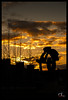 Monumento al ciclista abulense. Ávila (Salva RC.) Tags: ávila ciclista abulense monumento sunset atardecer nubes contraste avenidademadrid contraluz amarillo rojizo murallas