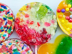 Jackie Alpers food photography: Hard Candy lollipops (Jackie Alpers) Tags: candy lollipops howto sweets colors colorful bright foodphotography jackiealpers foodphotographer diy hardcandy kidsfood food project crafts