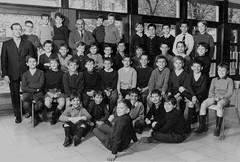 Class Photo (theirhistory) Tags: children boys kids shorts trousers shoes jacket wellies shirt rubberboots class form school pupils students education