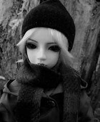 (claudine6677) Tags: bjd msd ball jointed doll love kaja asian dolls vampire demon sammlerpuppe puppen sw schwarzweis bw blackwhite