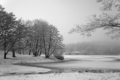Brunnsviken III (Infrared) (F. Neil S.) Tags: emount filter 720nm r72 hoya fullspectrumconversion nex6 sony sweden stockholm scandanavia clouds snow midwinter ice sky water sea