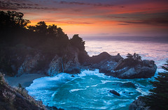 Dawn at the Falls (dezzouk) Tags: mcwayfalls california bigsur sunrise dusk dawn pfeifferburns statepark
