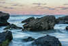 Slow moving time (StefanKleynhans) Tags: ocean beach waves water slow moving time movement motion rocks sunset clouds sky blue white orange nsw australia forster burgess nikon d7100