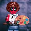 Bob 'Deadpool' Ross - Wet on Wet (jezbags) Tags: bob deadpool ross wet paint bobross marvel marvelstudios macro macrophotography macrodreams macrolego canon canon80d 80d toys toy lego legos legomarvel painter afro deadpool2