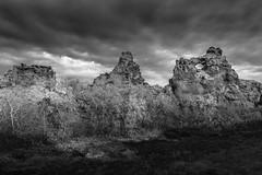 Dimmuborgir Lava Castles, Iceland (Randy Hoffmann) Tags: dimmuborgir iceland monochrome black white lava castle