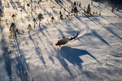Finnish Border Guard AB412 (lloydh.co.uk) Tags: rajavartiolaitos finnishborderguard finnish border guard sar search rescue ab412 hell helicopter bell hovering flying flight aviation lapland finland rovaniemi finnishborderguardab412 airtoairphotography aviationphotography aviationphotographer searchandrescue searchandrescuephotos nikon uk nikonuk nikond810