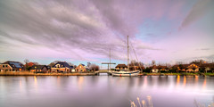 Schoorldam, The Netherlands. (Alex-de-Haas) Tags: 11mm d850 dutch hdr holland irix nederland nederlands netherlands nikon noordholland noordhollandschkanaal schoorldam avond beautiful beauty boat boot canal cloud clouds dorp evening gehucht hemel house houses huis huizen kanaal landscape landschap longexposure lucht mooi municipality residence residences sailboat skies sky sundown sunset town village water winter wolk wolken woning woningen zeilboot zonsondergang