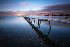 Horsens Pier (Tony N.) Tags: danemark denmark horsens pier ponton pontoon poselongue longexposure calm calme still sunset tonyn tonynunkovics d810 nikkor1635f4 nikon vanguard