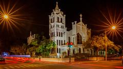 St. Paul's Church Key West (USpecks_Photography) Tags: keywest duvalstreet eatonstreet church stpauls nightshot longexposure lighttrails stars