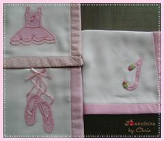 panos de boca (Joanninha by Chris) Tags: enxoval feitoamão handmade bordado artesanato aplicaçãodetecidos patchwork embroidery panosdeboca enxovalbebe enxovalmenina bailarina rosa