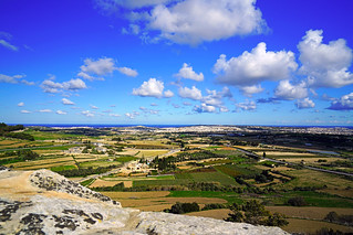 Wonderful panorama from Mdina ramparts, Malta