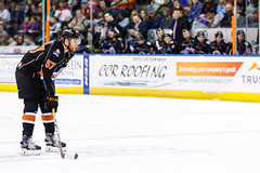 "Kansas City Mavericks vs. Florida Everblades, February 18, 2018, Silverstein Eye Centers Arena, Independence, Missouri.  Photo: © John Howe / Howe Creative Photography, all rights reserved 2018 • <a style=""font-size:0.8em;"" href=""http://www.flickr.com/photos/134016632@N02/40387900971/"" target=""_blank"">View on Flickr</a>"