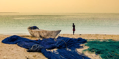 A LITTLE FISHERMAN CONTEMPLATING (ZANZIBAR) (Lúg) Tags: beach beautiful blue boat calm child coast coastline colorful dhow fisherman fishing holiday horizon journey lagoon little marine nature nets ocean outdoor panorama panoramic peaceful people relax sail sailor sand sea seashore shore silhouette summer sun sunny tanzania tranquil transport travel tropical turquoise vacation vertical voyage water wave young zanzibar