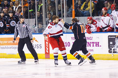 "Kansas City Mavericks vs. Allen Americans, February 24, 2018, Silverstein Eye Centers Arena, Independence, Missouri.  Photo: © John Howe / Howe Creative Photography, all rights reserved 2018 • <a style=""font-size:0.8em;"" href=""http://www.flickr.com/photos/134016632@N02/40458447402/"" target=""_blank"">View on Flickr</a>"