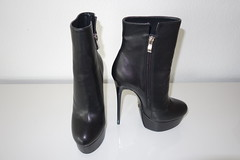 New Ankle Boots for Rosina (Rosina's Heels) Tags: high heel stiletto platform leather boots