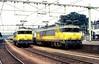 1624 + 1637  Arnhem  12.07.85 (w. + h. brutzer) Tags: arnhem 16 eisenbahn eisenbahnen train trains railway niederlande holland elok eloks lokomotive locomotive zug ns webru analog nikon