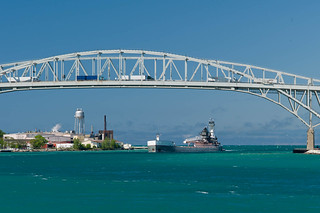 James L. Kuber Enters the St. Clair RIver