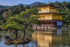 Golden Pavillion - Kinkaku-ji (21mapple) Tags: kinkakuji golden pavillion zen buddhist temple kyoto japan lake water pond