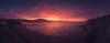 El Abra (Mimadeo) Tags: sunset coast dramatic sky evening sea getxo basquecountry paisvasco euskadi vizcaya bizkaia spain shoreline shore rocks landscape cliff mill silhouette clouds panorama panoramic beautiful arrigunaga red